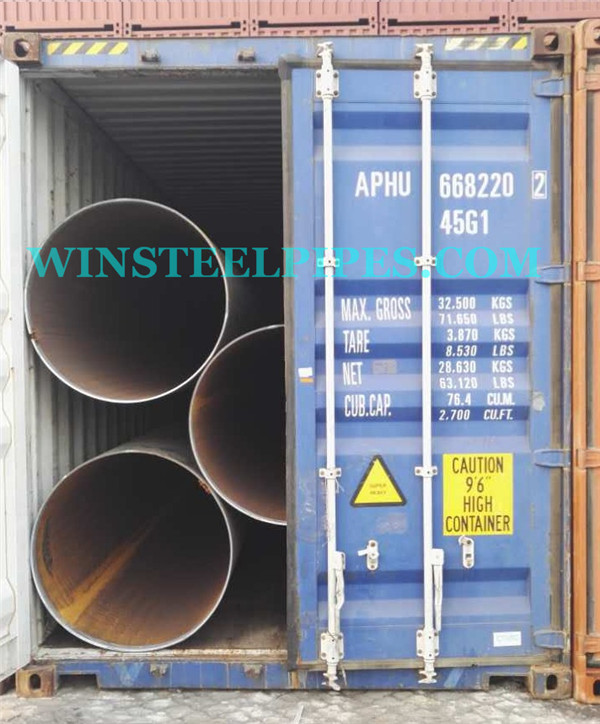 1016.0mm pipe in container