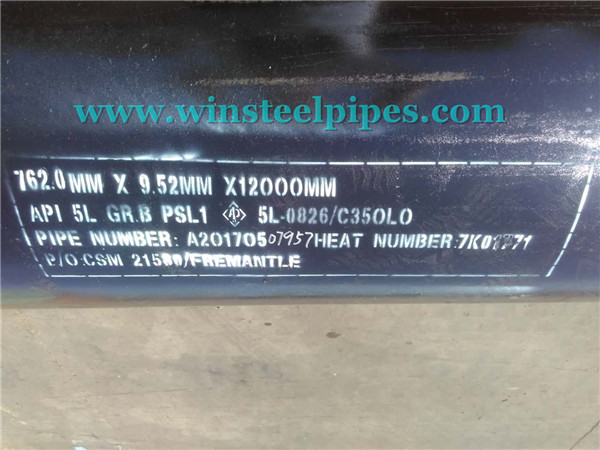 30 inch steel pipe Marking