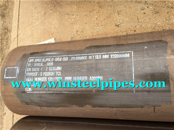 lsaw steel pipe marking