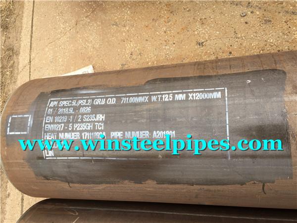 lsaw steel pipe marking