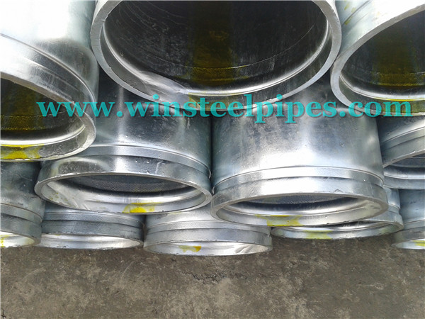 steel pipe end - grooved