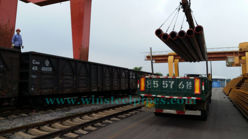 Railcars Practice for LSAW Pipe Loading